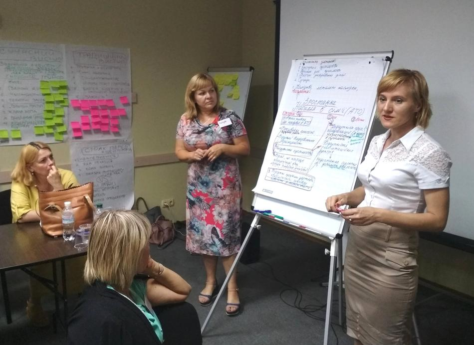 "On July 17, 2017, took place a training ""Women - Leaders of Changes in Local Communities"" for the representatives of Kirovograd and Cherkasy oblasts"